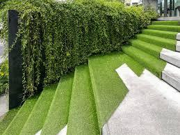 artificial grass stairway
